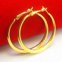 big heart times - For a long time does not fade like a pure gold gold gold earrings female big ear ring gold wedding jewelry fashion show