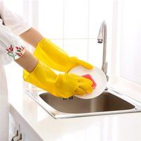 Wholesale Hot Seller Kitchen Dishwashing Gloves Cleaning Laundry Supplies Tools Waterproof latex large Size CM JA84 BY DHL