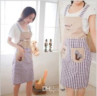 Wholesale sleeveless real crafts avental de cozinha divertido lace aprons colors kitchen accessories fashion overalls home apron japan cartoon