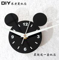 Cheap Diy accessories clocks diy clock diy movement gustless combination diy wall clock fashion MICKEY MOUSE