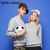 Wholesale 2016 new round neck scarf sweater Korean version of the tide students lovers fitted pure color wild youth shirt
