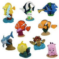 Wholesale FREE Newest Finding Nemo Finding Dory PVC Action Figure For Kids Children Toy Christmas birthday Gifts set original quality