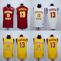 Wholesale James Harden College Jersey Basketball Arizona Stata Sun Devils Jerseys Yellow red White