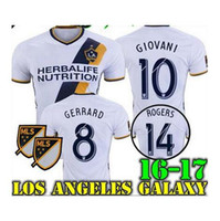 beckham home - New La galaxy soccer jersey GIOVANI home BECKHAM KEANE ZARDES GERRARD top quality La galaxy football shirt jersey