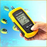 Wholesale Top Quality Fish Finder Portable Sonar Wired LCD Fish depth Finder Alarm M AP Electronic Fishing Tackle Dropshipping