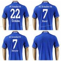 Wholesale Schalke Jersey Soccer Max Meyer Atsuto Uchida Raul Gonzalez Custom Football Shirt Uniform Kits Foot Tshirt Personalized Blue