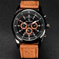 big face watch brands - 5cm Big Face Fashion Watches Men Brand V6 Original Design Sports Style Casual Quartz Leather Band Watch