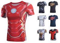 bat tights - fashion new bat man t shirts for men super man Iron man tights short sleeve tshirts for men sport d t shirt men s clothing xl