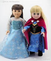 Wholesale New Arrival Anna Elsa Priness Clothes For American Girl Doll quot Inch Hot Sale Dolls Dress Accessories