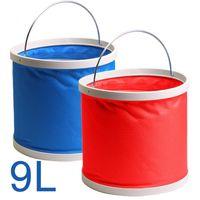 Wholesale Portable folding fishing bucket multifunction telescopic folding bucket car outdoor car bucket