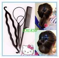 Wholesale 4Pcs Magic Hair Clip Twist Hair Styling Accessory Bun Maker Tool Braiding Roller