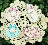 baby shower gift stickers - Babys Series Wood Figure Wall Sticker Return Gifts Baby Shower Birthday Party Decoration Kids