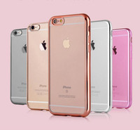apple plates - Colorful TPU Backcover Ultra Thin Transparent Clear Electroplating Plating Case for Iphone Plus S Plus Samsung S7 S7 Edge