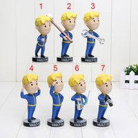 Wholesale 7pcs Gaming Heads Fallout Vault Boy Bobbleheads Series PVC Action Figure cm kids toys