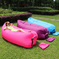 Wholesale 2016 new Fast Inflatable Sofa Sleeping Bag Outdoor Air Sleep Sofa Couch Portable Furniture Sleeping Hangout Lounger Inflate Air Bed Imitate