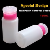 acetone pump - 150ml Plastic Press Nail Polish Remover Empty Bottle Pump Dispenser Nail Art Polish Acetone Remover Cleaner Makeup Tools