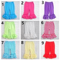 Wholesale 2016 cotton Wild ruffle shorts girls stripe Children s Casual Pants fashion lovely baby kids pants