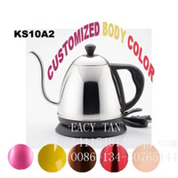 Wholesale 1 L Hot sale small electric kettle long spout kettle Electric coffee pot with long spout base on UL Standard SJT plug