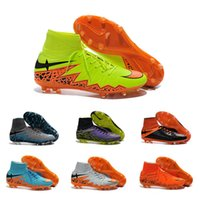 beige color shoes - Drop Shipping Football Shoes Men Hypervenom II Phantom FG Soccer Boots Color Outdoor High Quality Sports Shoes Size