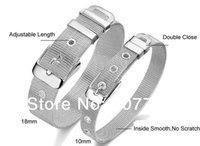 Wholesale Fashion Men s Lady s MM MM MM Width L Stainless Steel Adjustable Buckle Mesh Belt Bracelet Bangle