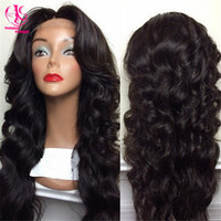 Cheap Popular heat resistant black wig Synthetic Lace Front Wig High Quality Classic body Wave with middle part Synthetic Wig
