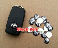 badge systems - 100pcs mm Toyota Car logo Auto Key Fob Emblem key Shell decal Badge Sticker sticker system
