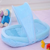baby cradle cribs - Baby Crib Netting for Newborns Portable Baby Cradle Bed with Pillow Infant Sleeping Bed Travel Folding Baby Bed Mosquito Net VT0298