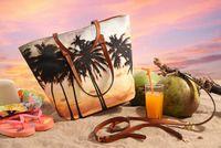 beach bag set - AB619 Casual Bohemian Tree prints WOMEN BEACH BAG Handbag Purse Shopper Tote WITH MESSAGER BAG BAGS SET