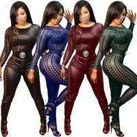 Wholesale Sexy Fashion Black Bandage Bodycon Jumpsuits Catsuit Playsuits Clubwear OS8050