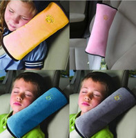 Wholesale Child safety shoulder pillow Cushion Children Kids Harness Car Safety Seat Belt Cover Dampen Sleep Pillows colors