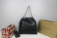 bag measurements - Women s shoulder bag Falabella Shaggy Deer black pvc Fold Over Women s Big Size chains tote bags Measurement x x cm
