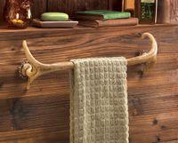 Wholesale Towel Rack Bathroom Cabin Wood Decor