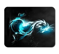Wholesale Blue Dragon Custom Standard Oblong Rectangle Gaming Mousepad in mmX180mmX3mm mmx290mmx3mm