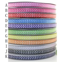 chevron ribbon - 3 quot mm Solid Colors Not Mixed Chevron Printed Grosgrain Ribbon Craft Gift DIY Hair Accessories Yds Color A2