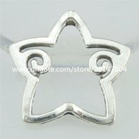 antique silver frame - 16779 Alloy Antique Silver Vintage Star Spacer Beads Frame Charms mm