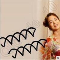 Wholesale Spiral Spin Screw Pin Hair Clip Hairpin Twist Barrette Black Plate Made Tools B Magic Hair Scroo Bridal Hair Accessories CCA4635