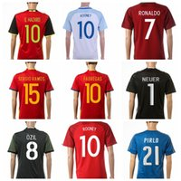 Wholesale 2016 Euro Cup Newest Soccer Jerseys All teams Brand Soccer Uniform Top Thailand Soccer Jerseys Cheapest Soccer Wears Mix Order Drop Shipping