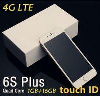 Wholesale Unlocked Goophone i6 i6s s Plus MTK6735 Bit Quad Core GB RAM GB ROM HD MP Real G LTE Fingerprint Touch ID Smart Phones