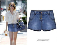 Wholesale women jeans short super star style casual short skirt new fashion arrival sizes color