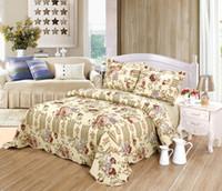 antique rose king - JESSY HOME Antique Rose piece Reversible Comfortable Cotton Bedspread Coverlet Quilt Set