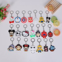 Wholesale Cheap Desipcable Me Minions Key Chains Baymax Spide man Cat Doraemon Skull etc styles Keyring