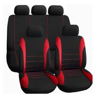 Wholesale 9pcs Car Seat Cover Polyester Composite Sponge Back Seat Cover Sets High Quality Car Styling Car Covers Seat Cover Accessory