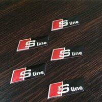 audi tt door - 2pcs Car Stickers Sline S line Sticker Fender Decal Emblem Decor for Audi A1 A3 A4 A5 A6 A7 A8 Q5 Q7 TT