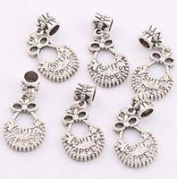 baby spit - Hot Antique Silver quot Spit Happens quot Baby Bib Charm Big Hole Beads Fit European Bracelets B333 x34 mm