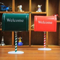 Wholesale zakka retro shoot mail tin box storage box tin creative props furnishings