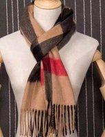 Wholesale Women and Men Keep Warm Rectangle B Plaid Cashmere Scarves Famous Brand Top Quality Pashm Scarf Design Size cm Neckerchief B921