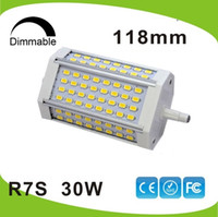 Wholesale High power w dimmable mm LED R7S light J118 R7s lamp without cooling fan replace W halogen lamp AC85 V