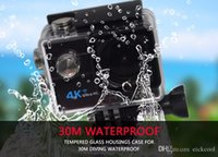 Yellow MicroSD / TF HD 1080P Ultra HD 4K WiFi Camara Deportiva Cam Go Pro Waterproof Action Kamera Pro Action Camera With Small Travel Kit Case Q5H
