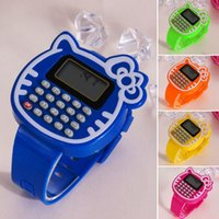Wholesale 1Pcs New Children Silicone Date Multi Purpose Kids Calculator Wrist Watch Figures for Children toys learning and education K5BO