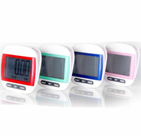 Wholesale by dhl fedex in1 Waterproof Step Movement Calories Counter Multi Function Digital Pedometer with Big Screen